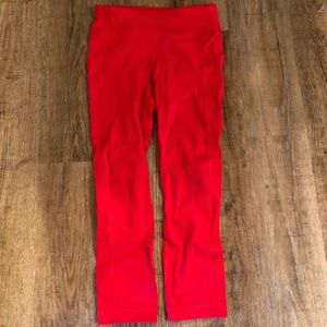 Lululemon Capri pants in red. Size 2. Brand new